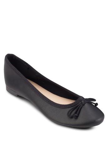 蝴蝶結仿皮平底鞋,esprit hk 女鞋, 鞋