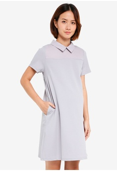 e406c05c3cb Spring Maternity grey Maternity Short Sleeve Yeva Dress 4EC8EAA417222DGS 1