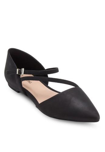 esprit服飾Nespolo 尖頭多帶平底鞋, 女鞋, 鞋