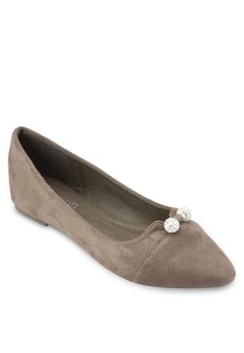 esprit分店經典尖頭平底鞋, 女鞋, 鞋