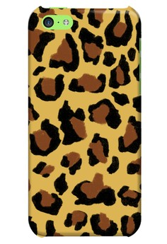 Funky Cheetah Print D Glossy Hard Case for iPhone 5c