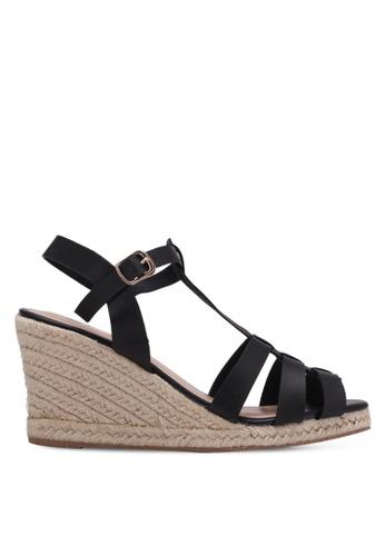 Bata black Wedge Sandals BA156SH0RY68MY_1