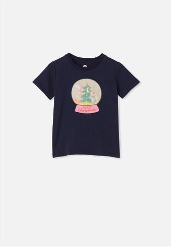 Cotton On Kids blue Stevie Short Sleeve Embellished Tee A7A0AKA3620A66GS_1