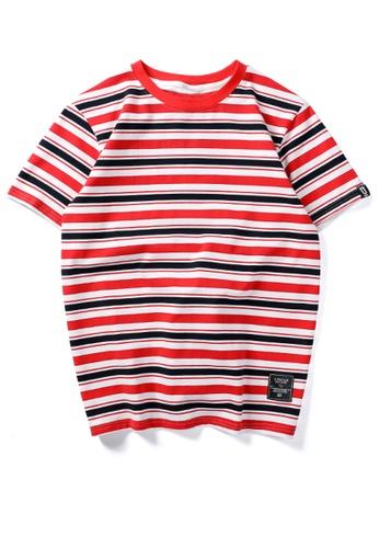 HAPPY FRIDAYS 寬鬆撞色條紋短袖T恤 UP737 D0E05AAE4D04F7GS_1