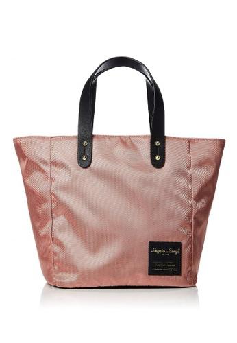 Anello pink [Legato Largo] Water-Repellent Nylon Mini Tote Bag-LT-T0011 PINK BEIGE 02A03AC49DEFC5GS_1