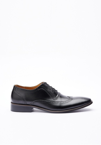 Kings Collection black Halfdan Leather Shoes BF756SH2109BEAGS_1