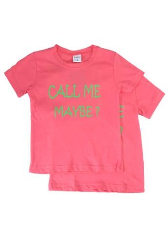 UniqTee pink Call Me Maybe Tee 2-Pack F2F3AKA792A6B1GS_1