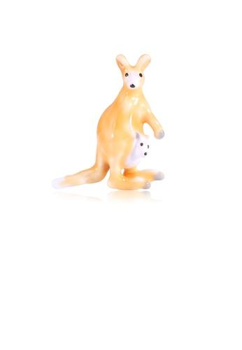 Glamorousky silver Simple and Cute Yellow Kangaroo Brooch ECEE4ACD567B44GS_1