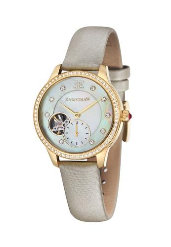 Thomas Earnshaw beige Thomas Earnshaw LADY AUSTRALIS ES-8029-02 Women's Cream Satin Strap Watch B3C82AC0981AE9GS_1