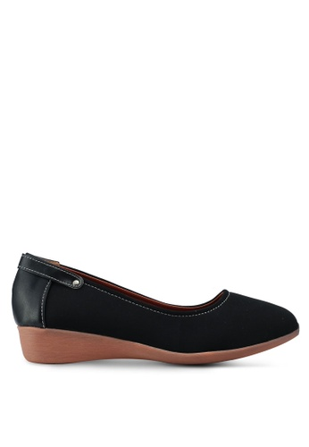 Spiffy black Solid Tone Wedges 06FC2SH045A921GS_1