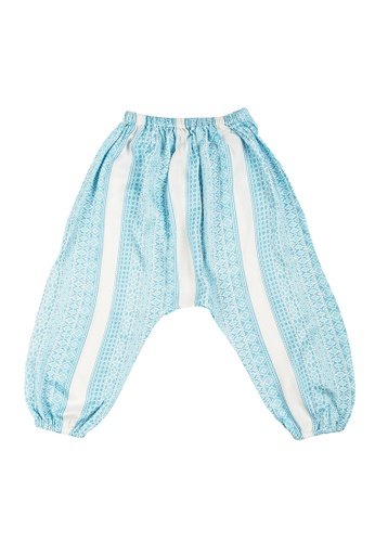 Kooshboo white and blue Asha Pants (Blue) 3ED74KA4F2204FGS_1