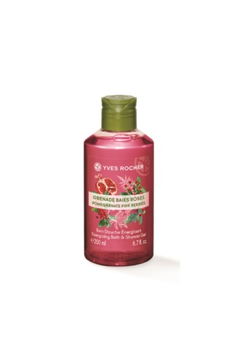 Yves Rocher pink Energizing Pomegranate Pink Berries Shower Gel 200ml AAC75BE6BA0D80GS_1
