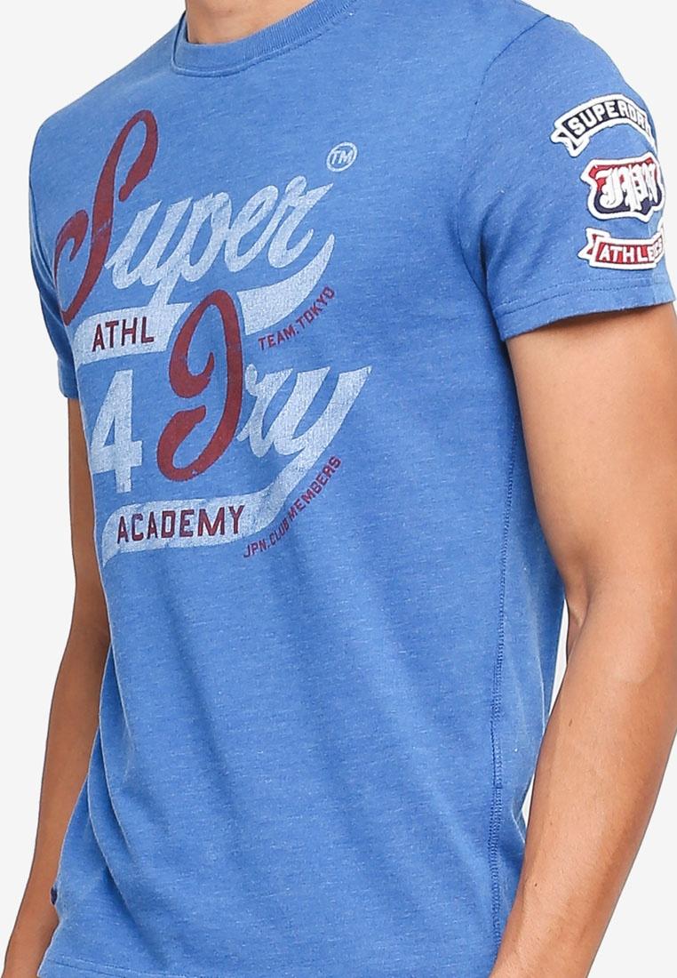 Superdry Blue Marl 54 Techno Academy Tee x6ESBgw