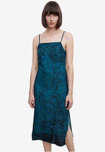 URBAN REVIVO green Casual Dress 4E783AAA3D3048GS_1