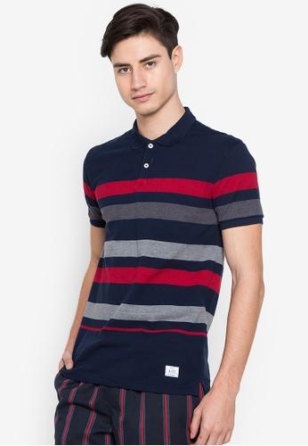 Blued blue Bennison Polo Shirt C4340AA893A335GS_1