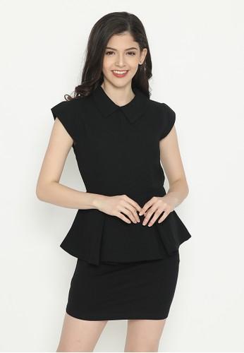 Mobile Power black Mini Dress Peplum Black Mobile Power Ladies - D40035 A1DC8AAD1FC097GS_1