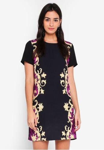 Glamorous black Scroll Mini Dress 7E7F8AA40F087FGS_1