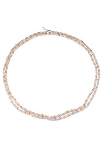SUNRAIS silver Premium Color Stone Silver Simple Design Necklace 884E7ACCD6F0B8GS_1