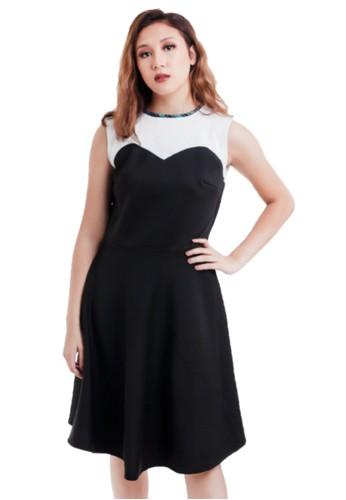 Gi & Ne (Giane) Official black Chelle Flare A Line Summer Casual Semiformal Office Dress D4407AAC8FC711GS_1
