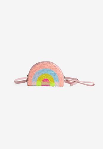 Gingersnaps multi Girls Rainbow Flip Sequin 3 -Way Bag FC74BKC112B3DDGS_1