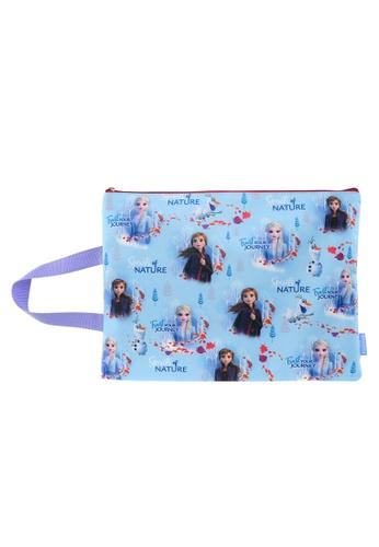 Disney Frozen blue Disney Frozen 2 A4 Size Pencil Bag 86753KCC7ADBB2GS_1