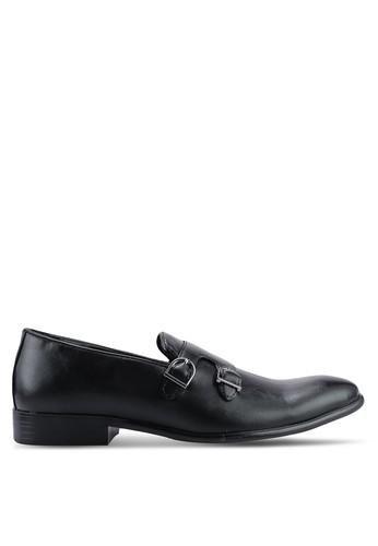UniqTee black Double Monk-Strap Dress Shoes 54DB0SH9043AA3GS_1
