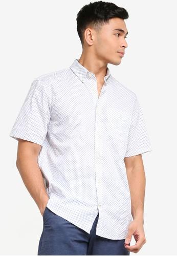 GAP blue Short Sleeve Performance Cotton Shirt 54766AA9E0B12AGS_1