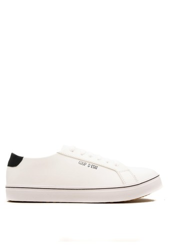 CDE white CDE Ceremonial Men Sneaker White/Black Special (Zalora Sepatu Pria Sneakers Putih/Hitam Spesial) 0E602SH4F0A7D2GS_1