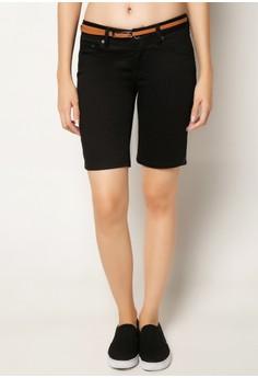Glitzie Basic City Shorts with Belt