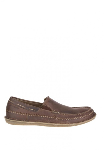 Hush Puppies brown Malachy Roll Flex Casual Shoes HU326SH0J3GPPH_1