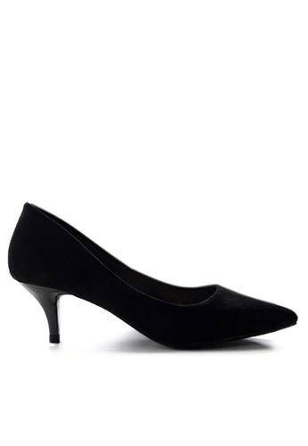 Twenty Eight Shoes 黑色 5CM尖頭絨面高踭鞋 292-11 69BF3SH5269E5CGS_1