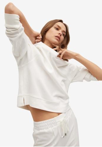 Mango white Basic Sweatshirt FE092AAC9FBF90GS_1