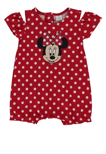 LC Waikiki red Baby Girl Minnie Mouse Printed Jumpsuit 8A4D2KA98C4311GS_1