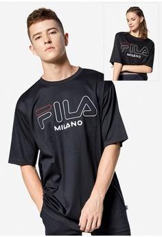 4855d41755a Fila black Milan Fashion Week Iconic Logo T-shirt 594F8AAFAF5A3FGS_1