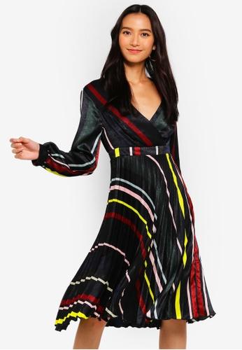 Lipsy multi Stripe Print Fit And Flare Dress 6DB2FAAD47D4A1GS_1