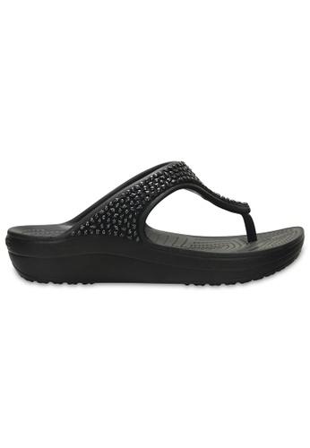 c46f5b56c5bd Crocs black Women s Crocs Sloane Embellished Flip Blk Blk FD9DCSH8029100GS 1