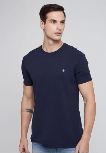 United Colors of Benetton blue Basic T-shirt 1D04EAA71F233DGS_1