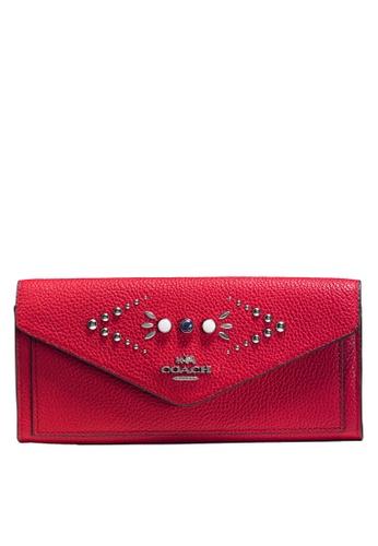 Coach red Soft Wallet (cv) 875B0AC5183A4AGS_1