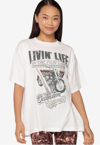 Lorna Jane white Fast Lane Vintage Boyfriend Tee 007A8AAA2D23A0GS_1