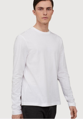H&M white Long-Sleeved Top 89838AAB309A22GS_1