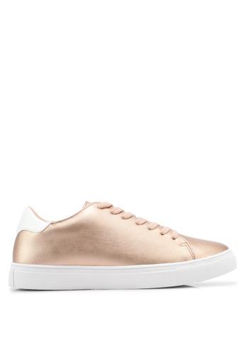 ZALORA beige Double Pu Detail Sneakers BCA56SH95D0F0BGS_1