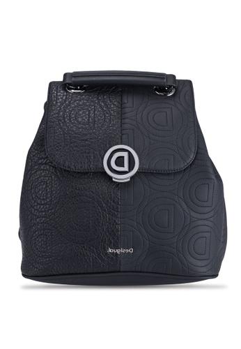 Desigual black Logomania Patch Backpack FC75DAC2B33502GS_1