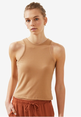 Trendyol brown Basic Knitted Cami Top 01A3EAAE55409DGS_1
