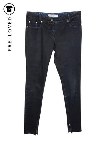 DIOR black Pre-Loved dior Skinny Jeans With Side Zippers 6B2D1AAE5AF02BGS_1