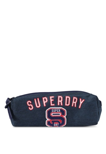 Superdry navy Stadium Pencil Case SU137AC0SLOOMY_1