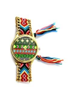Ethnic Pattern-H Crochet Strap Watch 008