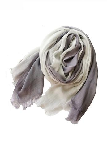 HAPPY FRIDAYS Cotton Yarn Mix Color Tie Dye Scarf JW JS-1100 2201BAC453EED7GS_1