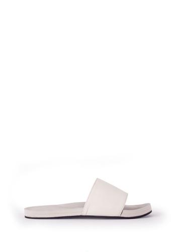 Indosole white Indosole Women's ESSNTLS Slides - Sea Salt 5686ASH65D591DGS_1