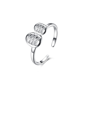 Glamorousky silver 925 Sterling Silver Elegant Fashion Adjustable Opening Ring DBEB7AC18EECFEGS_1
