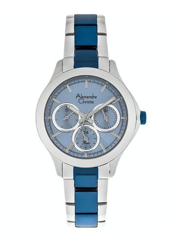 Alexandre Christie blue and silver Alexandre Christie Jam Tangan Wanita - Silver Blue - Stainless Steel - 2741 BFBTUBU ADCA9AC40BDEE3GS_1